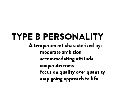 type a and b personality essay Free essay: learning personality types could be one of the best tools for self-improvement and relationship enhancement by identifying the personality type.
