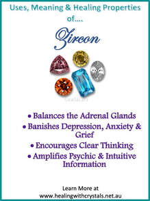 Zircon - Metaphysical Healing Properties Healing Crystal
